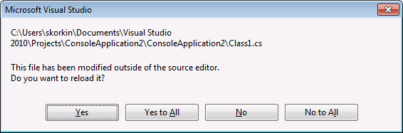 This file has been modified outside of the source editor dialog