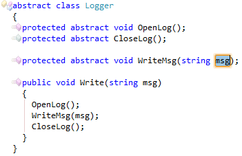CodeRush Declare Method Abstract Result