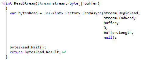 CodeRush Execute Statement Asynchronously FromAsync Result
