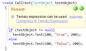 CodeRush Ternary Expression Can Be Used Sample