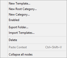 CodeRush Templates Category Context Menu