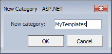 CodeRush Templates New Category Dialog