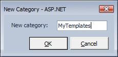 CodeRush Templates New Category Dialog